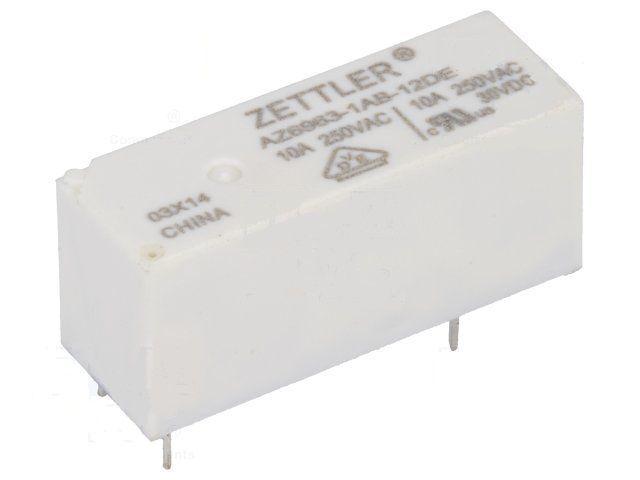 RELÉ AZ6963, cívka 12V DC, 1x spínací kontakt, Proud kontaktu 10A /250 V AC