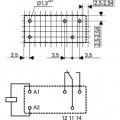 RELÉ relé s cívkou F4301-230V, 1 x přepínací kontakt 230VAC; 10A/250VAC; 28kΩ