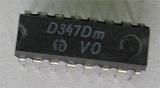 D347D - převodník BCD/7.segment, DIL16