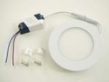 LED mini panel podhledový 6W, 490-510lm, 4500K denní bílá, tenký, kulatý, do podhledu + trafo 230V