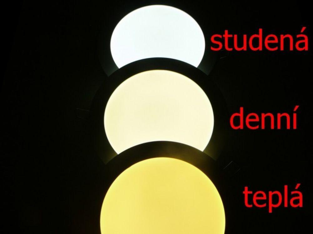 LED mini panel podhledový 6W, 450-510lm, studená, denní, teplá bílá, tenký, kulatý, do podhledu + trafo 230V