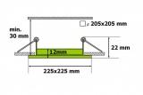 LED panel SN18 18W čtverec do podhledu + trafo 230V vyberte variantu