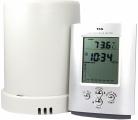 Měřič srážek s teploměrem TFA 47.3003, Rádiem řízený, velký LCD displej, teplotní alarm, paměť