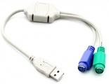 USB kabel redukce 2xPS/2 30cm
