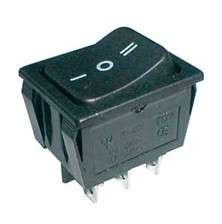 Přepínač kolébkový ON-OFF-ON 250V/15A 6pin fastony
