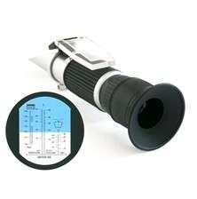 Refraktometr na měření provozních kapalin automobilu, bod tuhnutí kapaliny, Elektrolyt baterie/Brzdová kapalina, nemrznoucí směs, Kapalina do odstřikovačů, fridex