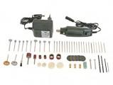 Vrtačka 3000-SET 62PL s příslušenstvím, Minivrtačka se síťovým adaptérem a 62 dílným příslušenstvím v plastovém kufříku
