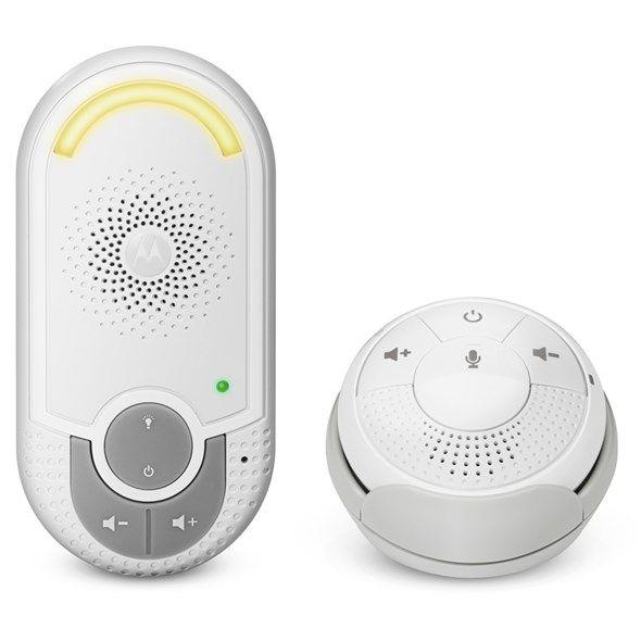 Chůvička dětská MOTOROLA MBP 140, audio baby monitor, Dosah až 300 m* Vysoká citlivost mikrofonu, Dobíjecí baterie