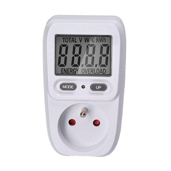 """Měřič spotřeby elektrické energie I DT26 - wattmetr do zásuvky, displej úhlopříčka 2"""" - 5cm"""