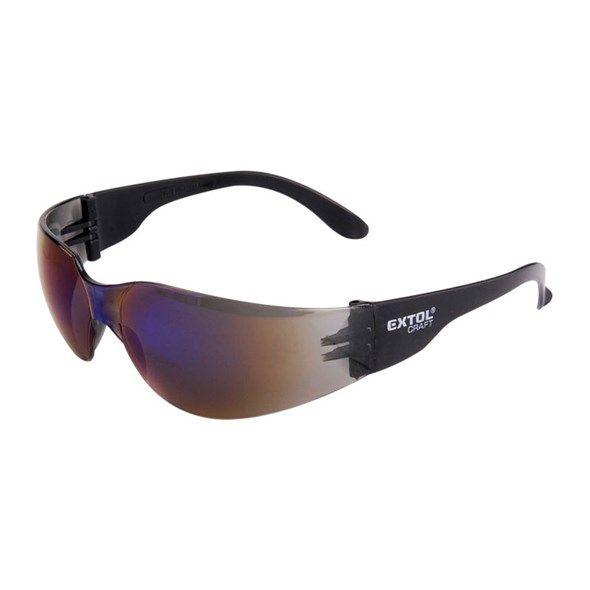 Ochranné brýle modré EXTOL UV s polykarbonátovým zorníkem třídy F s vysokou odolností proti nárazu, s ochranou proti poškrábání a UV záření