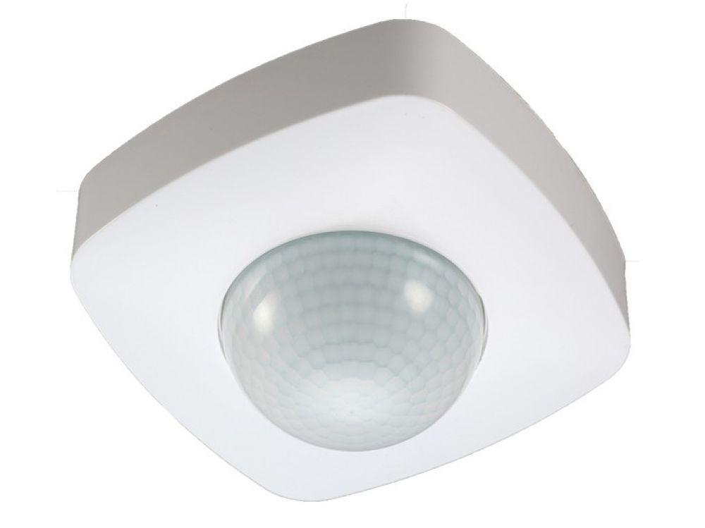 Pohybové PIR čidlo + detektor přítomnosti IS4-DP 230V, s dosahem až 20m v rozsahu 360°, Regulace citlivosti 3-2000lx, Vhodné pro LED osvětlení, 360°/160°/až 20m, zůstane sepnuté po dobu pohybu