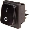 Přepínač kolébkový ON-OFF B442-BK01 2pol./4pin IP65 černý