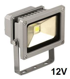 Reflektor LED venkovní 10W 12V, MCOB, šedý