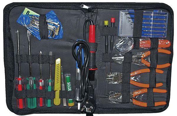 Sada nářadí pro elektroniky 17ks, elektrikářská souprava nástrojů