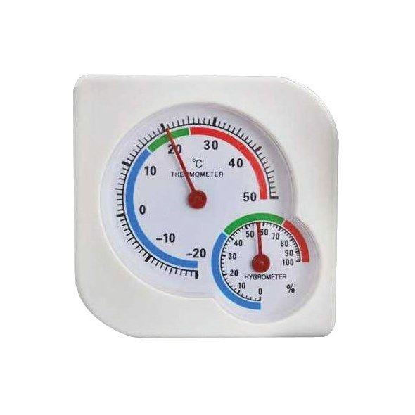 Teploměr analogový s vlhkoměrem -20 až +50°C
