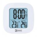 Teploměr digitalní bezdrátový E0127, hodiny řízené DCF signálem, čidlo s diplejem