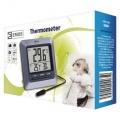Teploměr digitalní drátový E8860 měření vnitřní a venkovní teploty, vlhkosti, délka kabelu čidla 3m