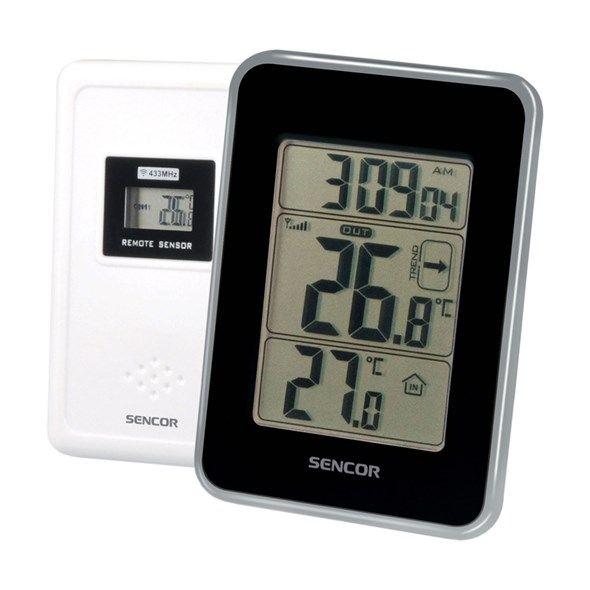 Teploměr digitální SENCOR SWS 25 BS bezdrátový, čidlo na baterie, vnitřní teplota, vnější teplota