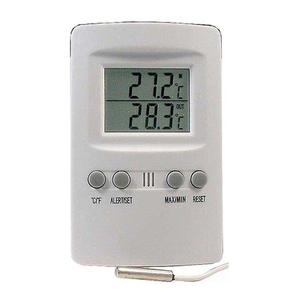 Teploměr drátový IT-201 pro měření vnitřní a venkovní teploty, napájení 1x AAA baterie, čidlo s kabelem