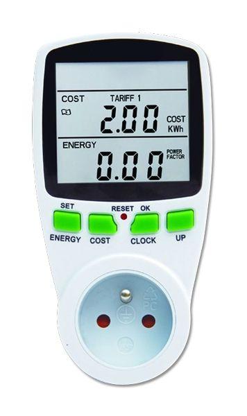 Měřič spotřeby elektrické energie P5801 III velký displej - wattmetr do zásuvky