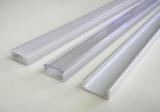 AL lišta profil Mikro stříbrný pro LED pásky k přisazení (varianta krytu-čirá/matná/bez krytu) 15,2x6mm délka 2m