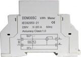 Elektroměr 1f DDM30 digitální display jednofázový podružný měřič spotřeby, wattmetr na DIN lištu
