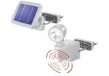 LED osvětlení - solární reflektor 1W s PIR čidlem ONE bílé