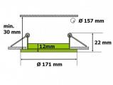 LED panel LN12 12W kulatý do podhledu + trafo 230V vyberte variantu, průměr @171mm