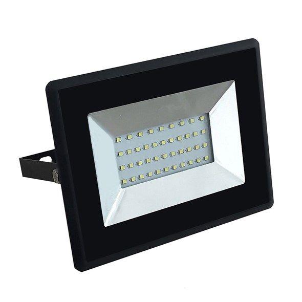 LED reflektor slim 30W, 2500lm, 4000K, AC 230V, černá, venkovní, IP65, barva teploty světla denní bílá
