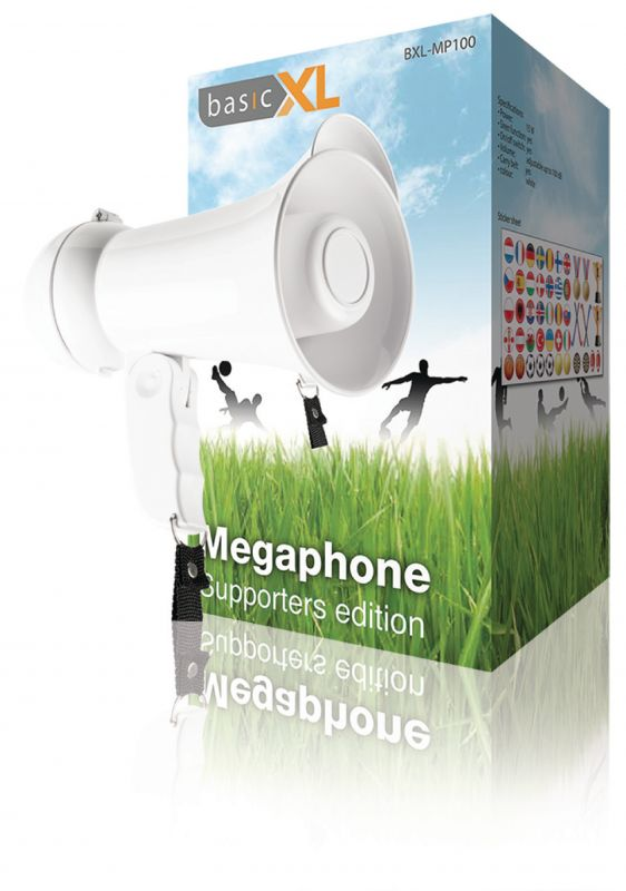 Megafon 15 W,  Vestavěný Mikrofon Bílá