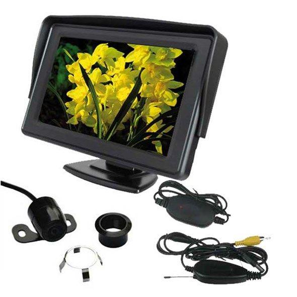 Parkovací systém bezdrátový set STU CW2 kamera s 4,3 displejem monitorem