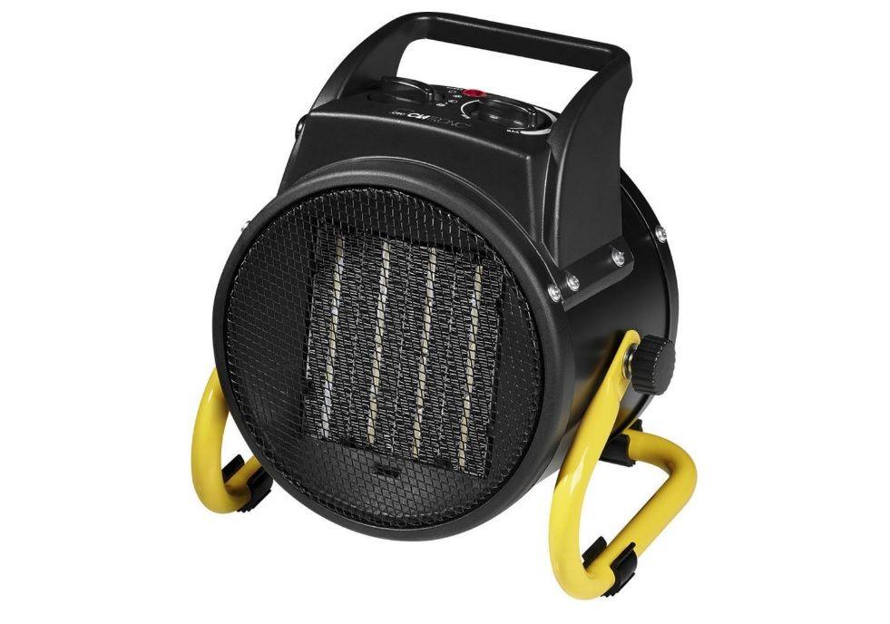 PTC keramický topný ventilátor Clatronic HL 3651 263775, 2000 W, černá - topení, přímotop, plynulé regulace termostatem