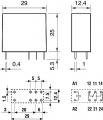 RELÉ F4061-24, 1 x přepínací kontakt 16A, 24V DC
