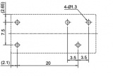 RELÉ FUJITSU-TAKAMISAWA FTR-H1CA012V 1x přepínací kontakt 10A, 12VDC elektromagnetické s cívkou