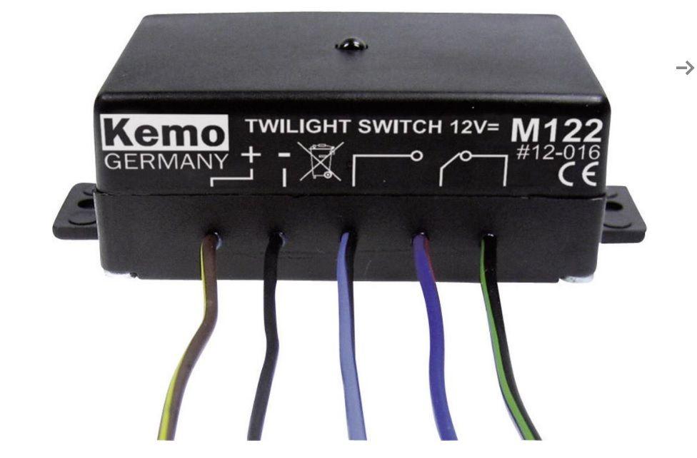 Soumrakový spínač-modul-sepne pří poklesu světla Kemo M122, 12 V/DC (modul)