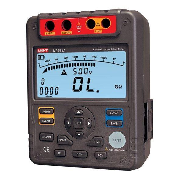 Tester izolace UNI-T UT513A 5kV, USB, digitální tester izolačního odporu