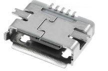 USB micro (mikro) konektor AB-ZK, zásuvka, SMD, verze 2.0, telefon, tablet, náhradní