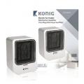 Ventilátor teplovzdušný KÖNIG KN-FH10, přímotop, topení, keramické těleso = Efektivnějsí ohřev a nižší spotřeba energie, 900/1500 W