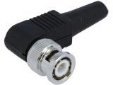 BNC konektor 6mm L90 úhlová (RG59) 50ohm vidlice na kabel