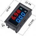 Digitální LED diodový panelový stejnosměrný Ampérmetr / voltmetr panelový 10A / 100V DC