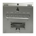 Hodiny JUMBO digitalní s teploměrem, Techno Line WS 8005, rozměry 228 x 180 x 28 mm, černá/stříbrná, datum, den, teplota, vlhkost, velké, nástěnné/stojan