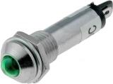 Kontrolka LED 24V DC @10mm zelená )