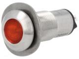 Kontrolka LED 24V DC @13mm červená 528-501-22 IP67 nerez