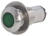 Kontrolka LED 24V DC @13mm zelená 528-532-22 IP67 nerez