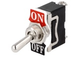 Přepínač páčkový TS104 2pol./2pin 250V/10A (ON)-OFF