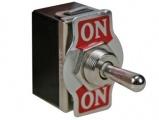 Přepínač páčkový 3pol./6pin (ON)-OFF-(ON) JS511G 250V/10A, aretace na středu, v krajních polohách bez aretace (impuls), změna směru, 2x přepínací kontakt