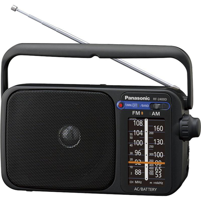 Radiopřijímač Panasonic RF 2400, na 230V AC i na baterie 4xLR20