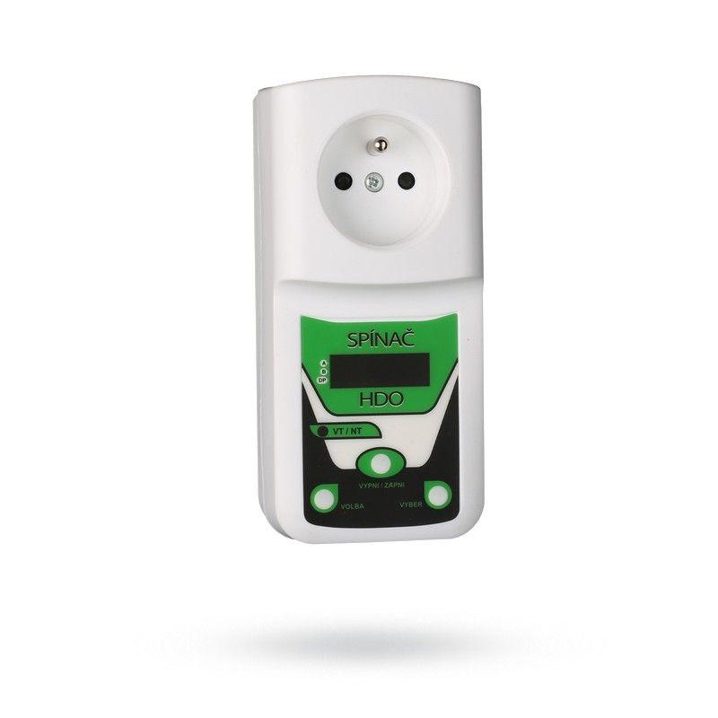Spínací hodiny digitální HDO spínač do zásuvky, dvojsazbový, denní a noční proud, automaticky sepne na nízký tarif - noční proud, vhodné pro akumulační kotle, zásobníky teplé užitkové vody apod.