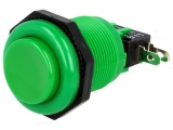Tlačítko VAQ-7R/15-G spínací/rozpínací 250V/10A @23,6mm