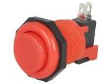 Tlačítko VAQ-7R/15-R spínací/rozpínací 250V/10A @23,6mm